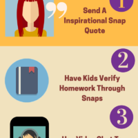 Top 3 Snapchat Hacks For Parents Infographic